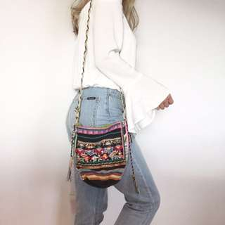 Sportsgirl boho gypsy festival embroidered bag