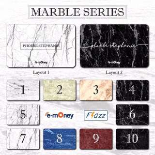 Custom etoll / flazz card marble edition