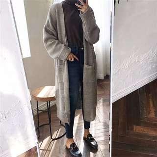 🚚 韓版寬鬆蝙蝠袖針織開襟外套