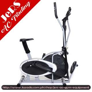 Elliptical Air Bike with Twister (Black/Grey)