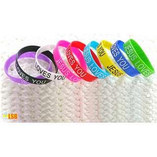"""[OneLSB.com] SSB01 """"Jesus Loves You"""" Silicone Bracelet"""