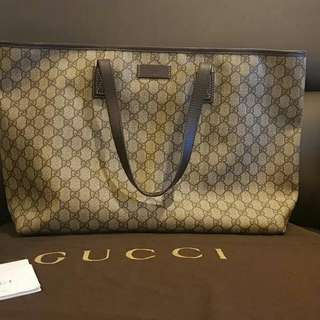 Preloved Gucci GG Supreme Monogram Large Tote