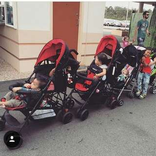 Mini Walker Tandem Twin Stroller