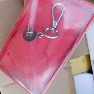 Kikki.k red leather keyring