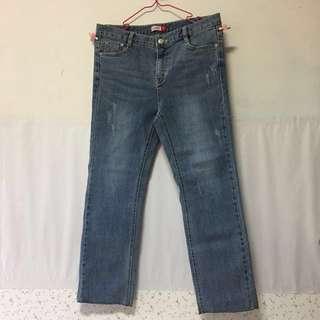 九分直筒牛仔褲