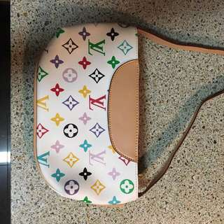 Louis Vuitton white monogram multicolour purse