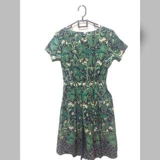 Dress batik green MINT