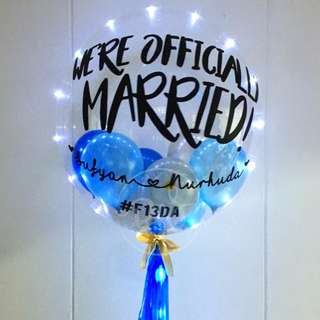 24-inch Personalised Bubble Balloon with Fairylights