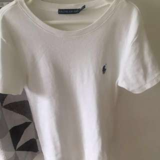 RALPH LAUREN white tshirt