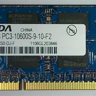 RAM - 4GB DDR3-1333 SO-DIMM For Laptop