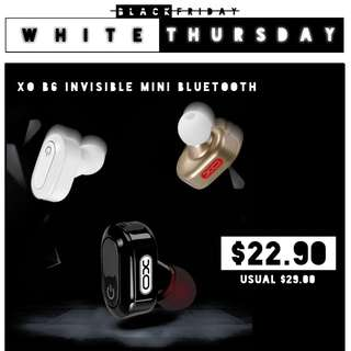 【WHITE THURSDAY】XO B6 'Invisible' Mini Bluetooth