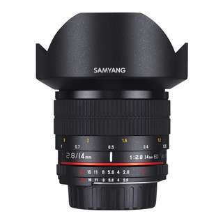 Samyang 14mm f2.8 ED AS IF UMC Lens (Canon, Nikon AE and Sony E Mount)