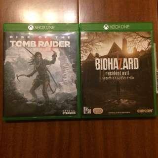 Xbox one 遊戲 惡靈古堡7 古墓奇兵崛起