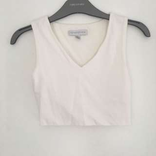 Forever new white crop top