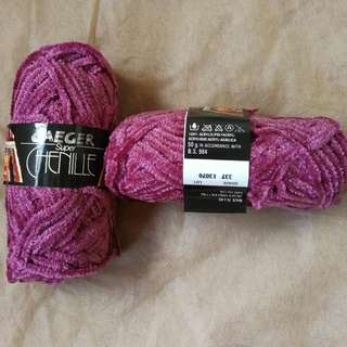 🎉SALE🎉🈹減價🈹Jaeger Super Chenille Knitting Yarns毛冷冷球