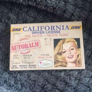 The balm driver license pallet
