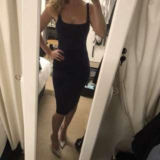 Zara Navy Blue Body Con Dress