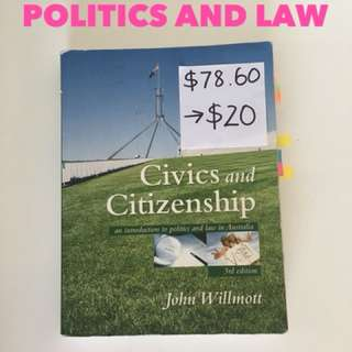 Year 11 politics and law book