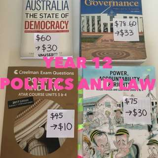 Year 12 politics and law books