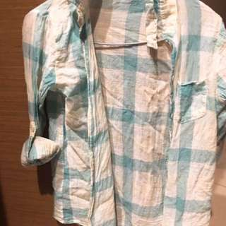 韓國格子襯衫#兩百元丹寧