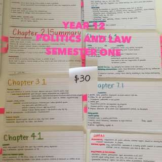 Year 12 politics and law study notes