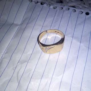 10k gold ring real diamond broke