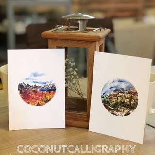 Limited edition landscape postcards