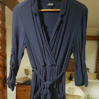 Bardot navy wrap dress size 8