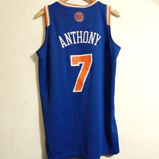 NBA Adidas Men's New York Knick Camillo Anthony Vest NYC Ny Blue Away 男裝 女裝 籃球 紐約人 背心 Basketball Bball Ball