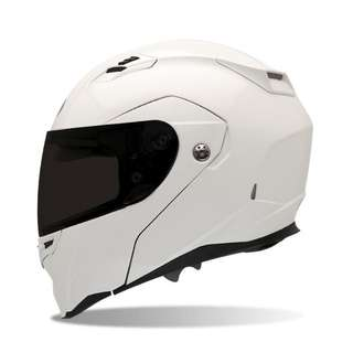Brand new Bell Revolver Evo White Modular Design Flip Up Design Full Face Half Face Motorcycle Motorbike Helmet all sizes Small Medium Large X-Large XL X-Small