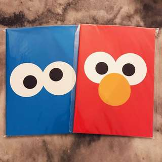 Notebook Elmo & Cookie Monster from Universal Studios Singapore