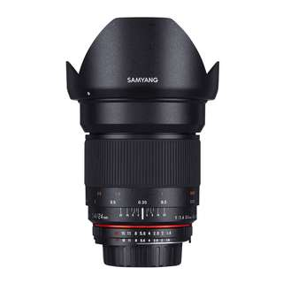 Samyang 24mm f1.4 ED AS IF UMC Lens (Canon, Nikon AE and Sony E Mount)