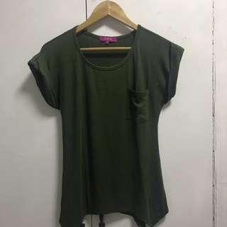 Moss cotton blouse