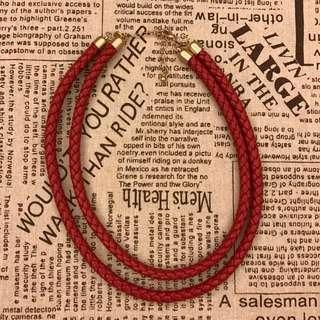🚚 紅色麻花編織 個性項鍊(#雙十一大出清)