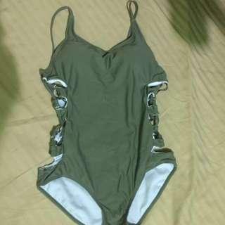 Moss green swimsuit