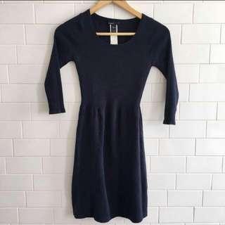 Mango blue body con dress