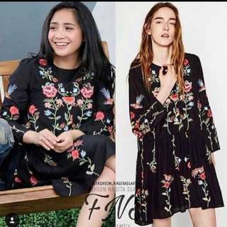 Zara embroidery flower dress (authentic)