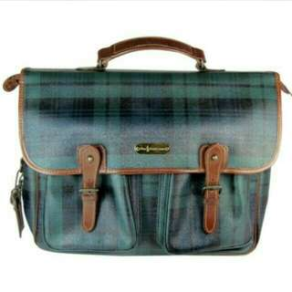 authentic Polo Ralph Lauren vintage leather messenger or laptop bag