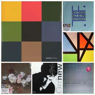 NM new order albums various records vinyl lps