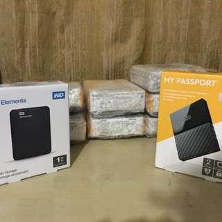 WD External Hard Drive 1TB & 2TB