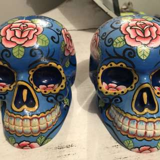 Large candy skulls