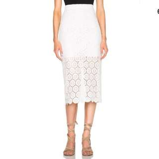 Lover the label Stellar white lace midi skirt 10