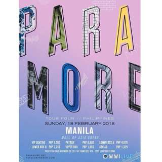 PARAMORE TICKETS (SCALPERS ALERT!)