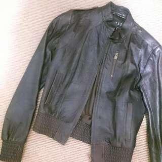 Vinetti Bomber Leather Jacket Au Size 8
