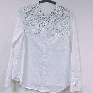 🚚 STARMIMI 白色潑漆襯衫