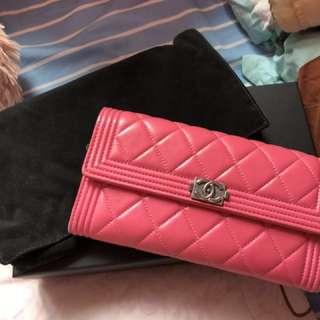 Chanel boy wallet 長銀包