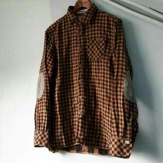 SCOTCH&SOLO 黑x咖啡 棉料長袖襯衫