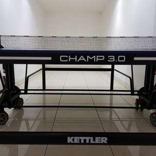 Meja tennis meja merk KETTLER tipe Champ 3.0