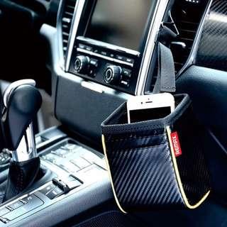 Remax CS-02磨碳纖維汽車多用途儲物袋 - 黑色