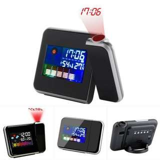 8190 Projection Weather Alarm Clock with Temperature Humidity
